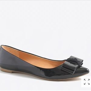 NEW NEVER WORN J CREW BOW PATENT LEATHER FLATS